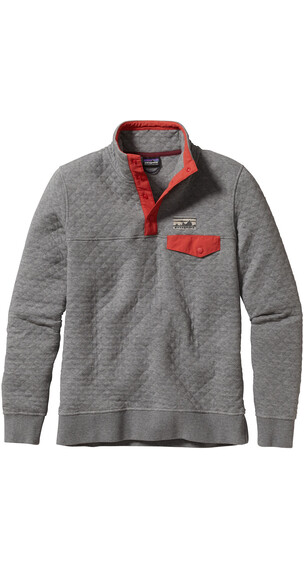 Patagonia W's Cotton Quilt Snap-T Pullover Feather Grey